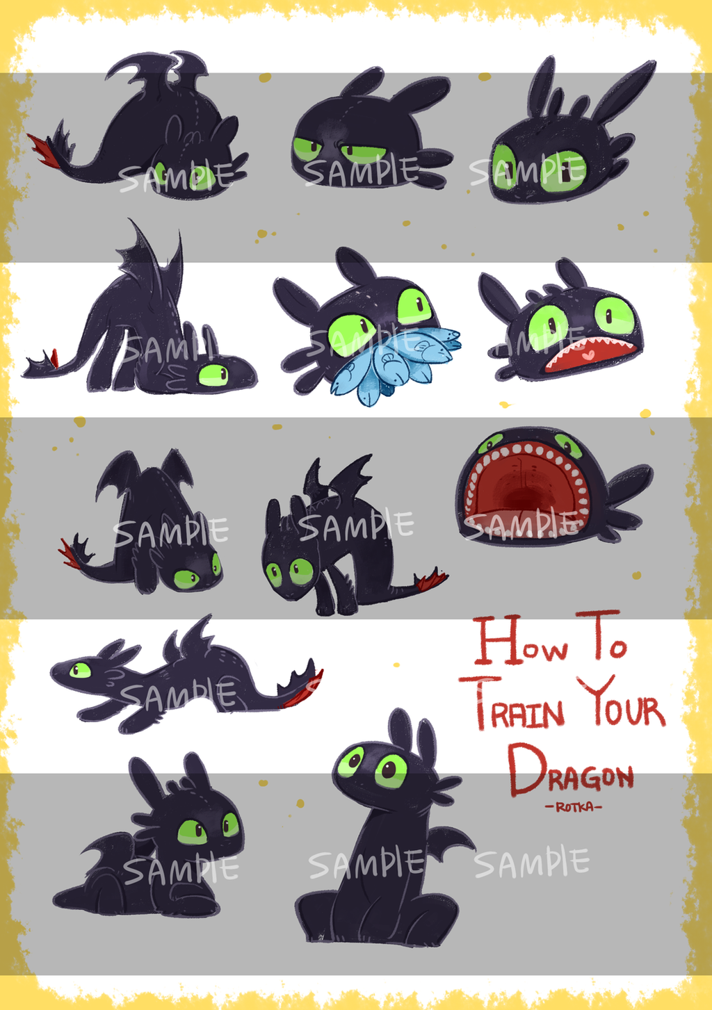 toothless stiker by Ganym0