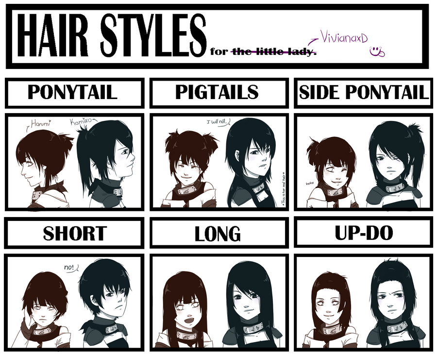 Hair Style Meme By Cuine On DeviantArt - Hairstyle drawing meme