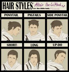 Hair Style Meme: Altair by Cuine