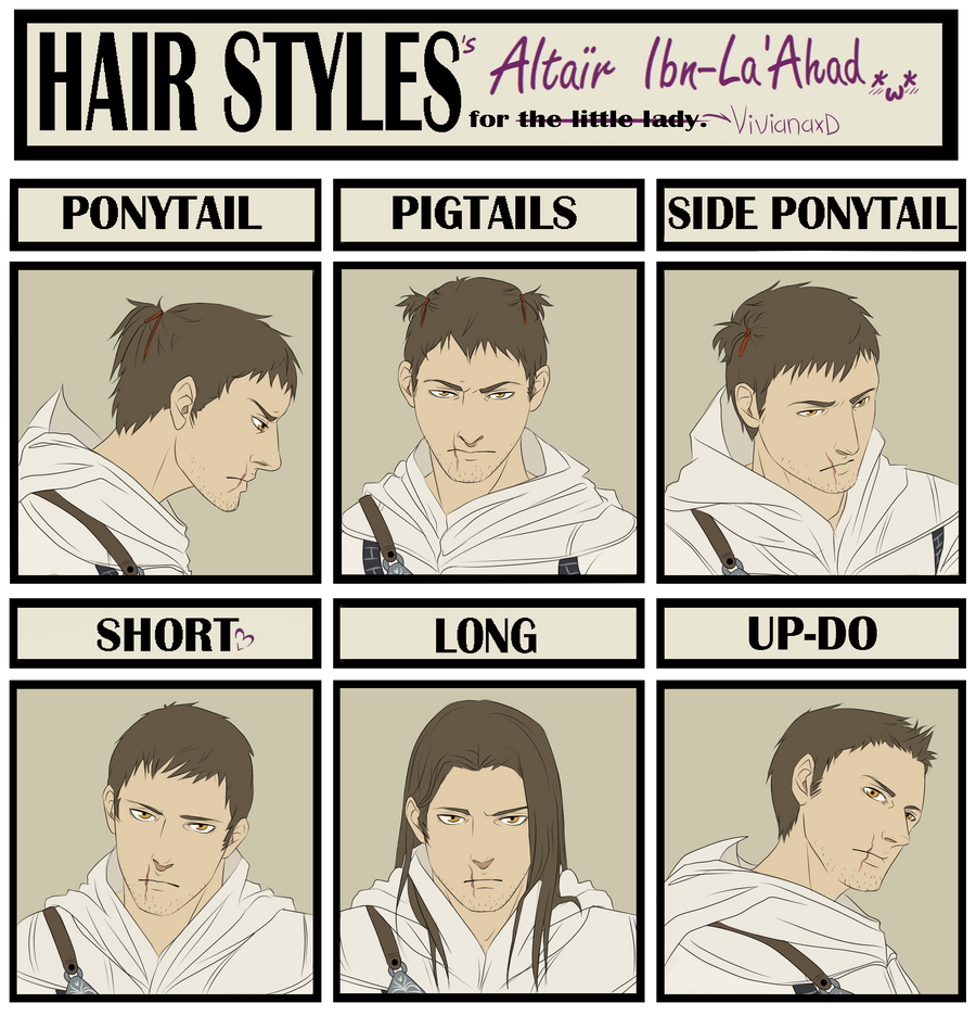 Hair Style Meme Altair By Cuine On DeviantArt - Hairstyle drawing meme