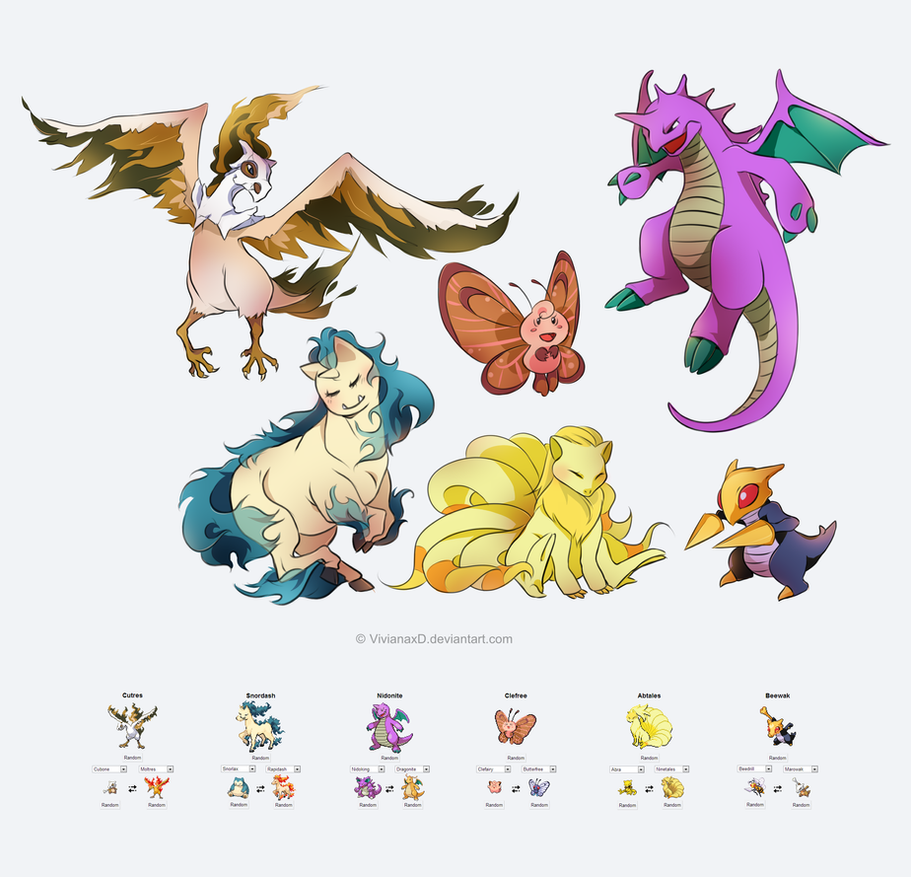 Pokefusion by cuine on deviantart for Cuine