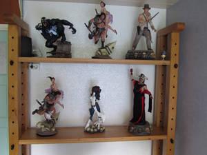 Oak Bookshelf Display Cabinet