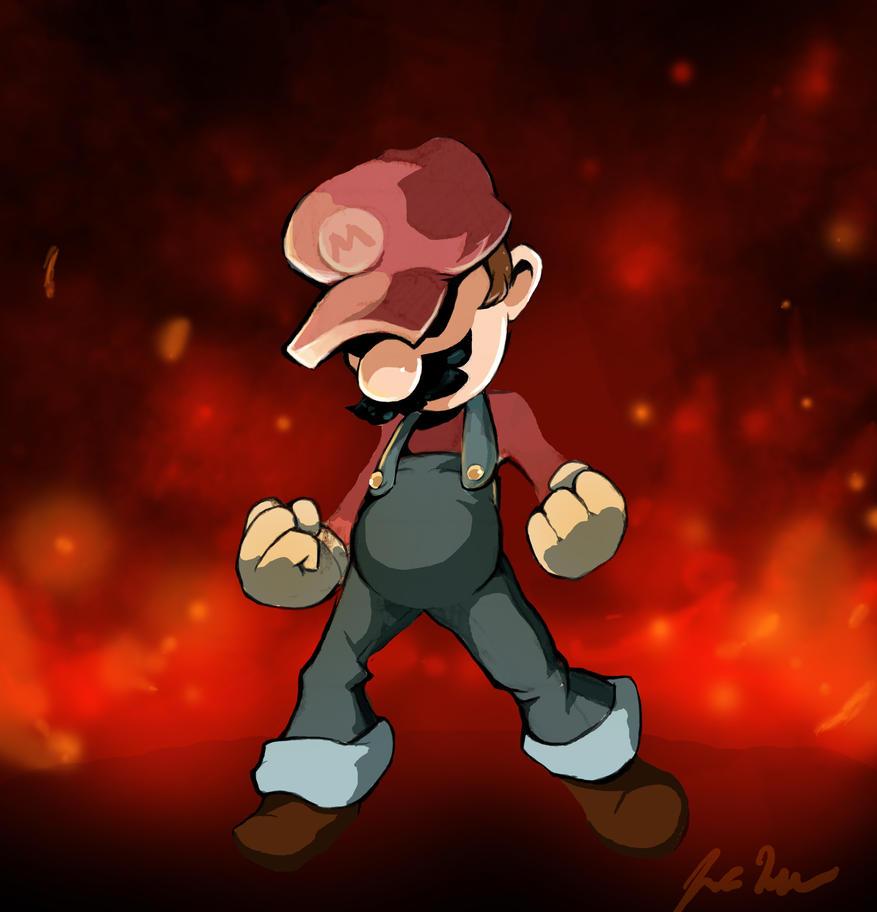 Mario (Pose Study) by jordanwalkerartist