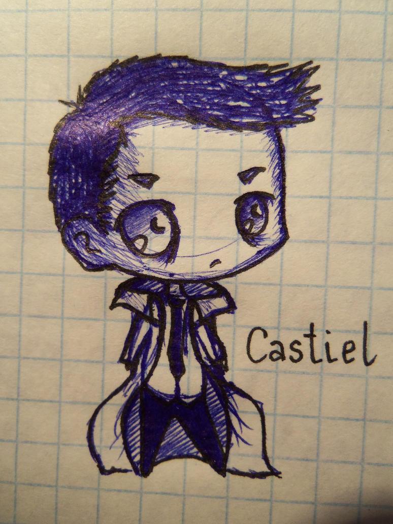 Cute castiel fan art
