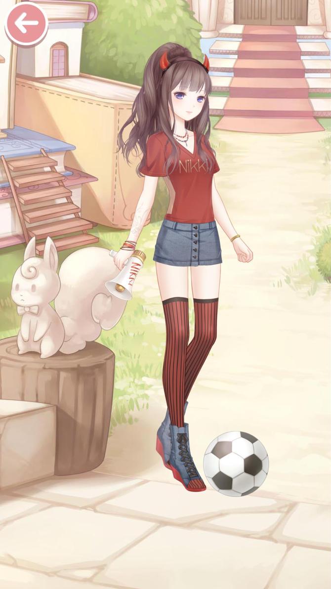 Soccer girl by Kizouriin