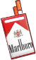 Profile Badge: Cigarettes: Marlboro Red 100s by Ashleykat