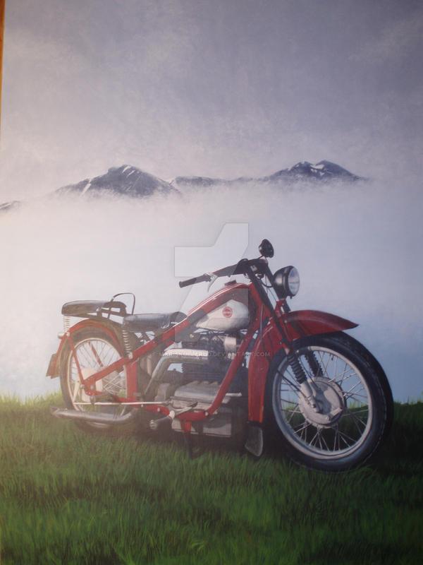 Nimbus motorcycle commission by MariSkullerud