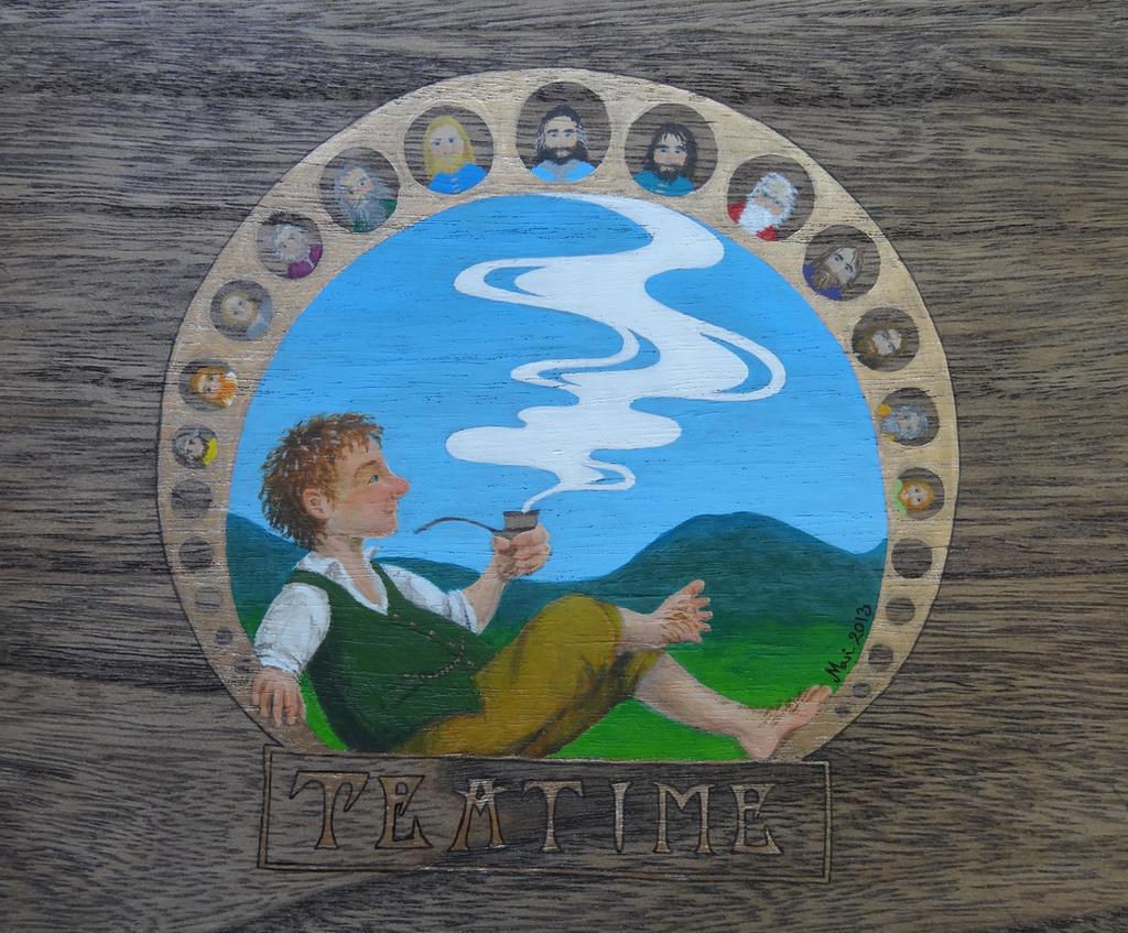 Middle earth tea box by MariSkullerud