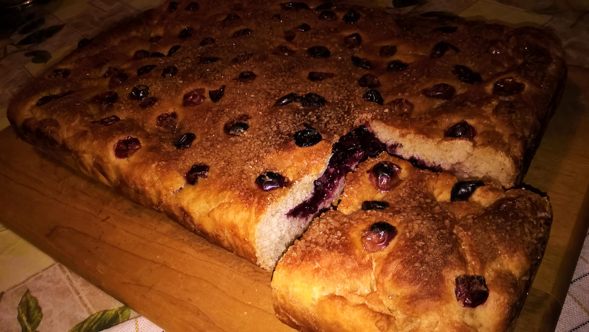 Homemade sweetbread with grape jam by LTerri
