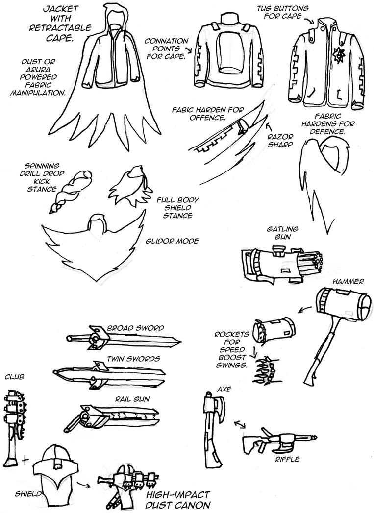 Rwby weapons ideas 1 by roninofdeath on deviantart