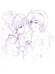 Kaworo and Kenshin by mata-hari