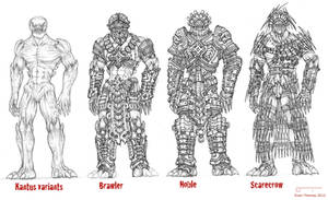 HOS project: Kantus armor variants