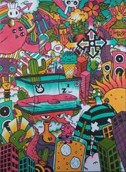 Doodle Page ( 3 Marker Challenge )
