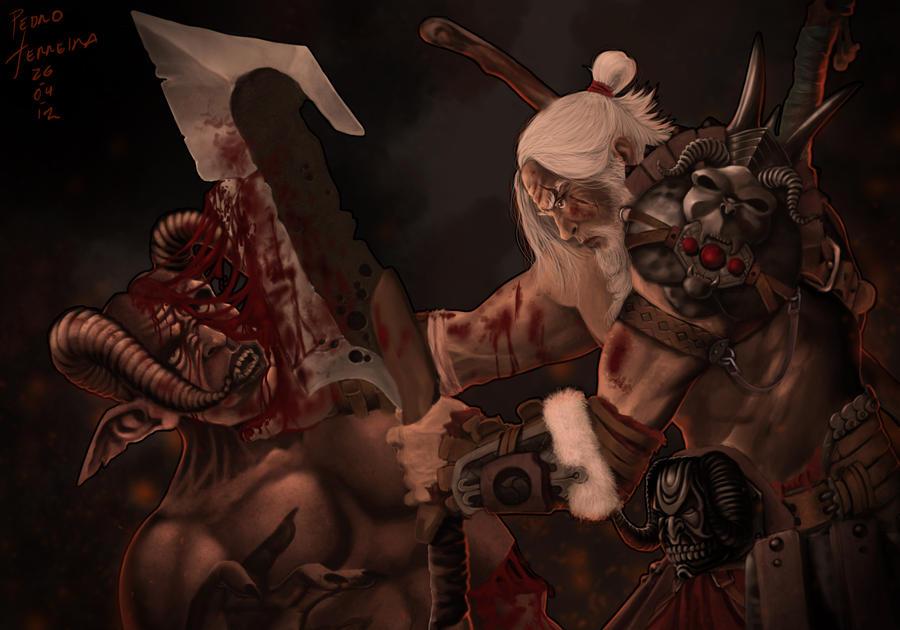 Diablo III Barbarian by Pedro-Ferreira