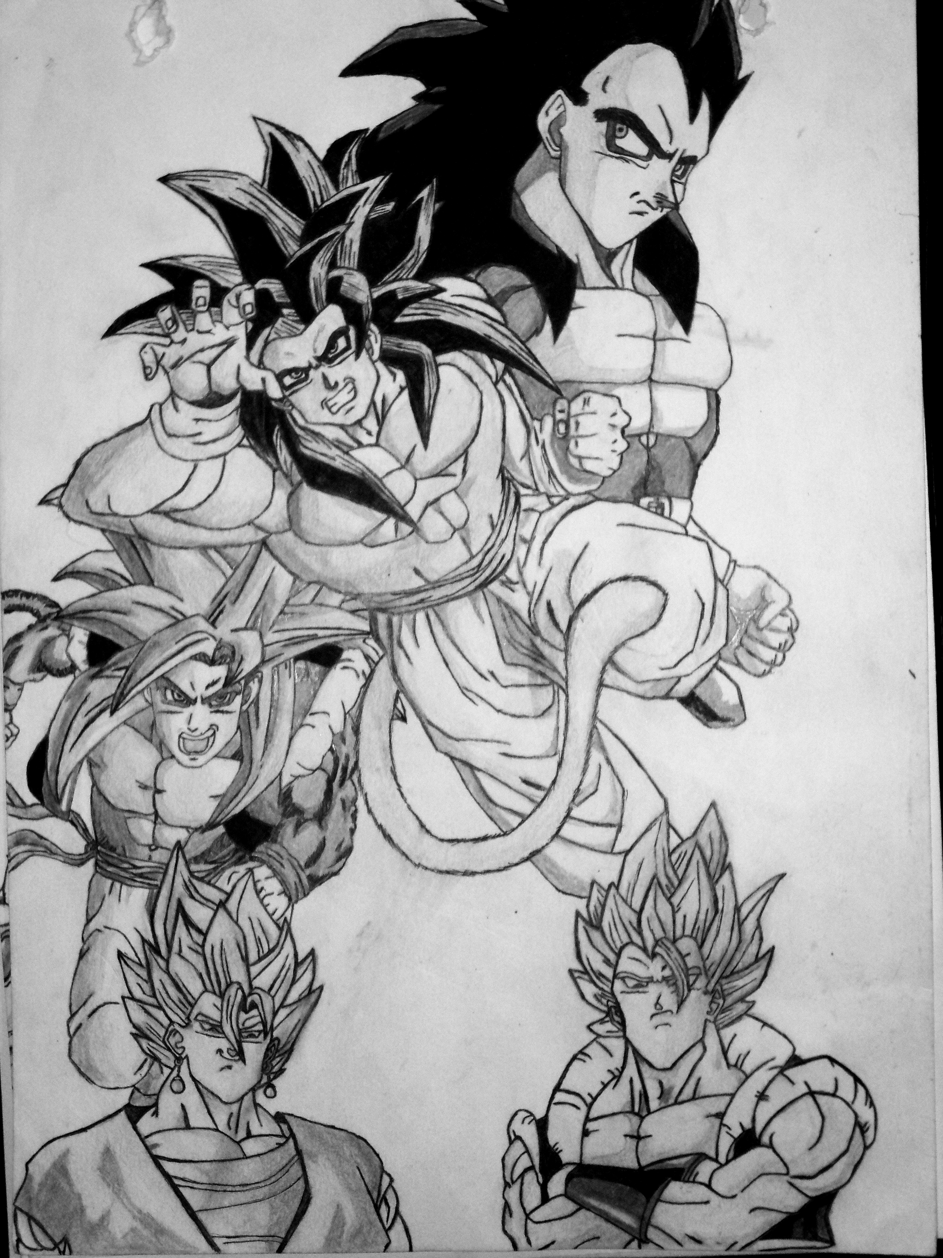 My First Dragon Ball Drawing By EckoSlime