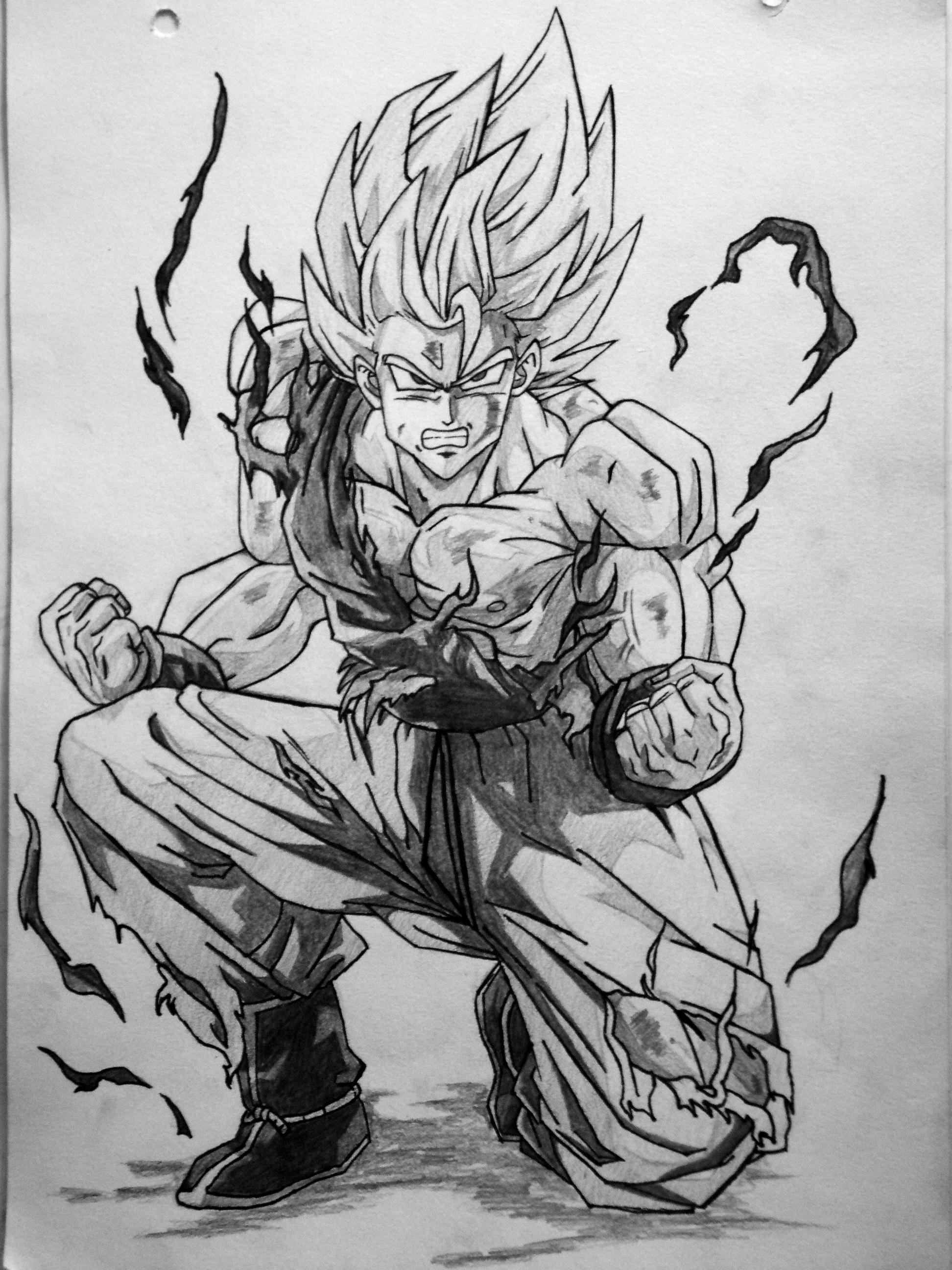Goku Super Saiyan 1 by EckoSlime on DeviantArt