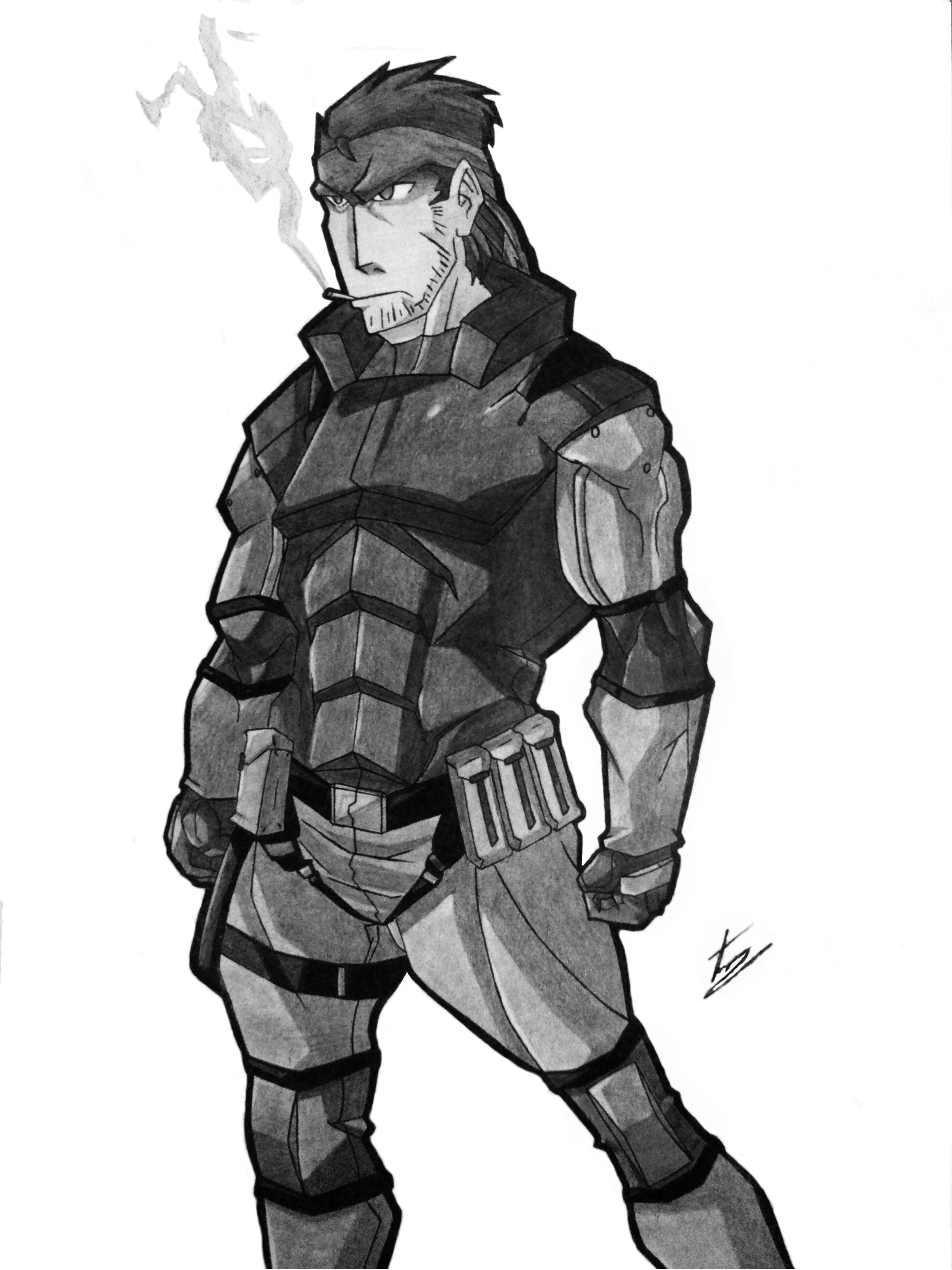 Solid Snake Metal Gear Solid By Eckoslime On Deviantart