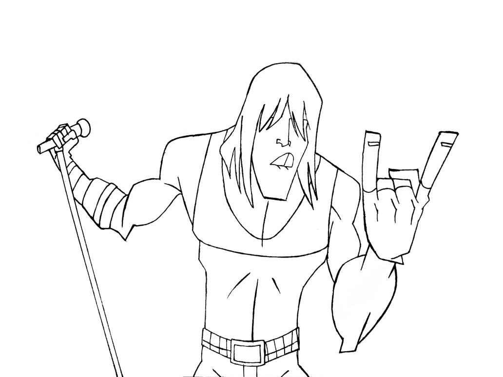 guitar hero coloring pages - photo#12
