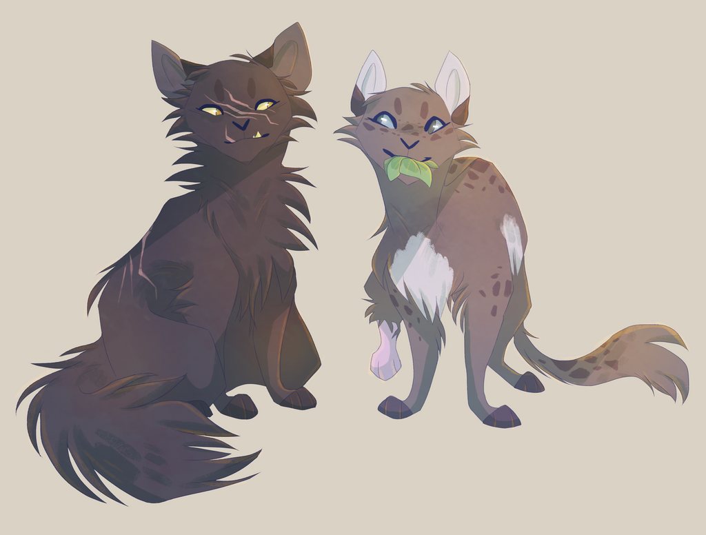 Warriors Cats Cinderpelt Yellowfang and Cinderp...