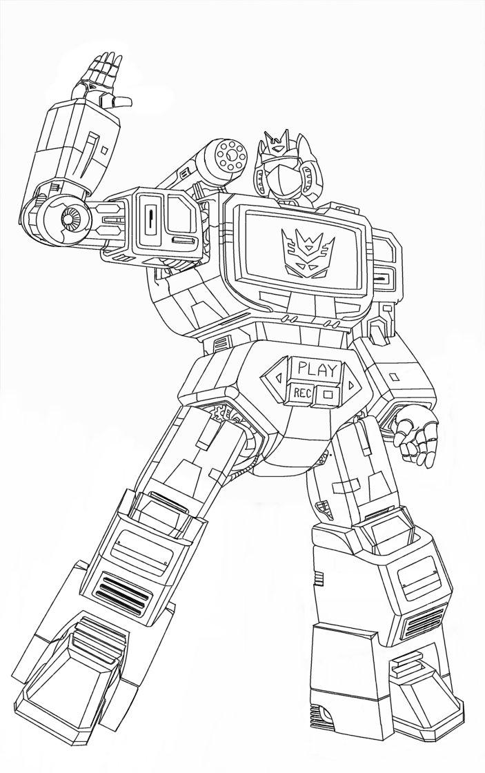 Soundwave Lineart by hansime on