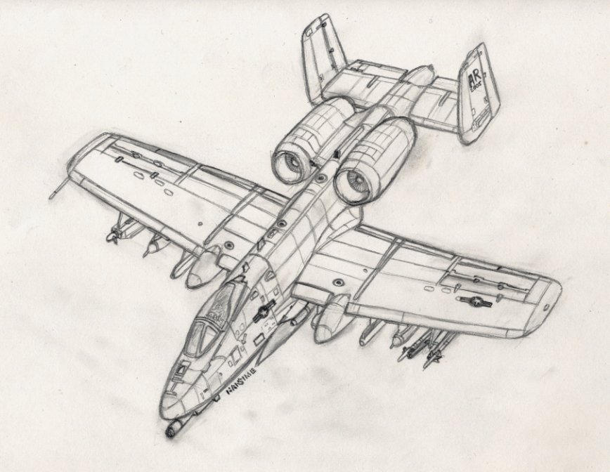A 10 Thunderbolt Drawing Powerglide A-10 Warthog mode