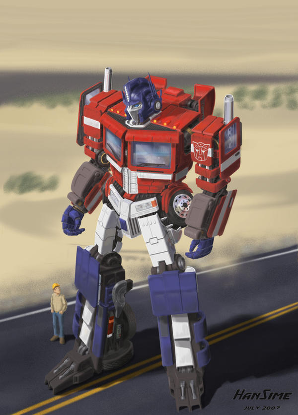 GeeWun Optimus Painting Style by hansime