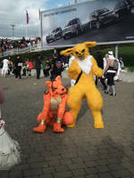 Jolteon and Red by Kloofcat