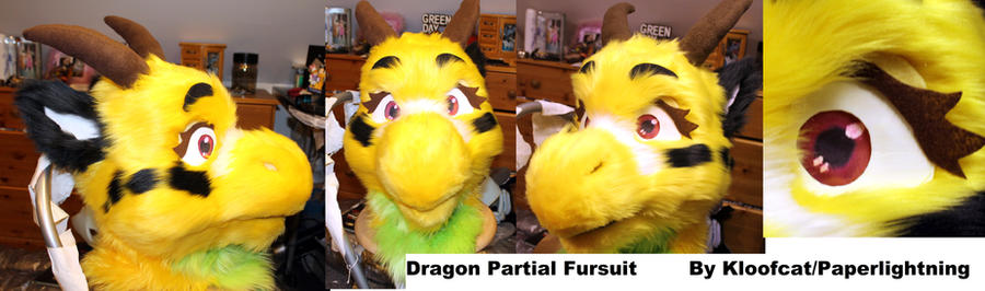 Dragon Partial Fursuit by Kloofcat