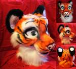 Tiger Fursuit Head