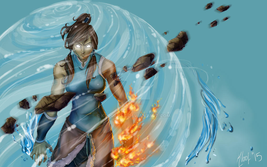 Avatar Korra Desktop by Kloofcat