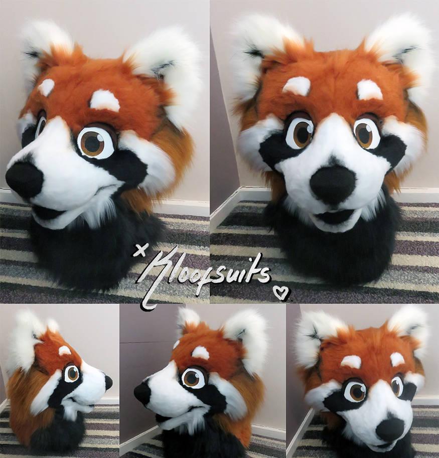 Fursuit Panda red panda fursuit headkloofcat on deviantart