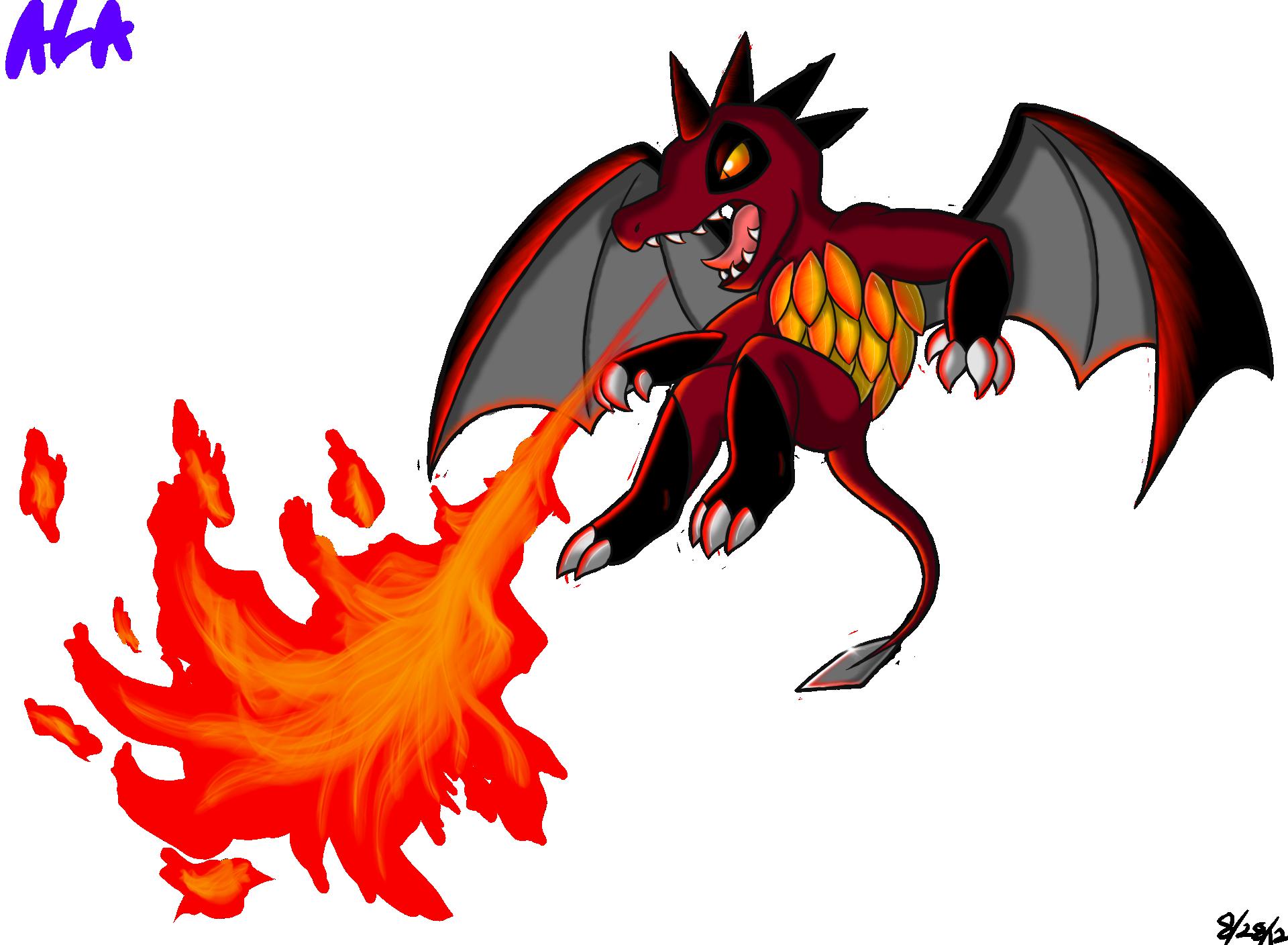 Fire-breathing Daggertail by Jestloo on DeviantArt