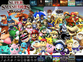 Super Smash Bros Brawl Wall by Marcos-Inu