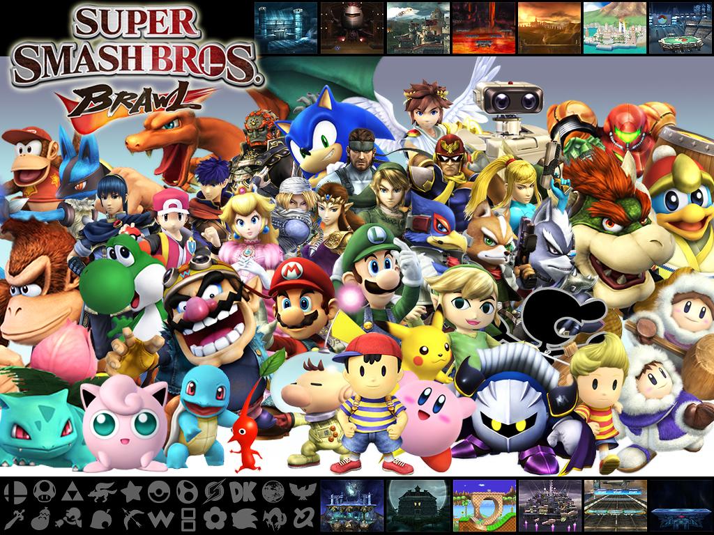 Super Smash Bros Brawl Wall by Marcos-Inu
