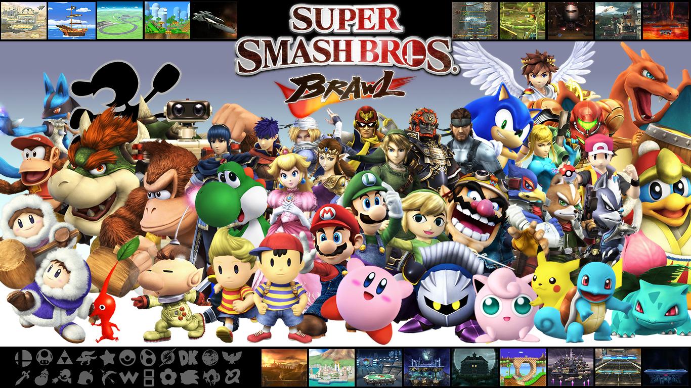 Super Smash Bros Brawl Wall V2 By Marcos Inu On Deviantart