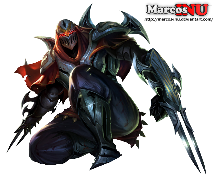 Zed, the master of shadows - RENDER by Marcos-Inu