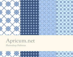Photoshop Patterns blue-white by apricum
