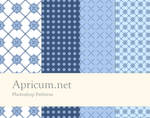 Photoshop Patterns blue-white