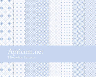 Blue Photoshop Patterns by apricum