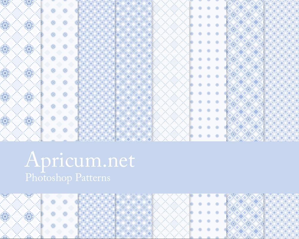 Blue Photoshop Patterns by apricum