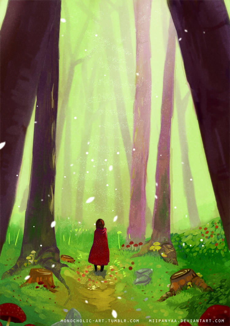 Alone in the forest by Miipanyaa