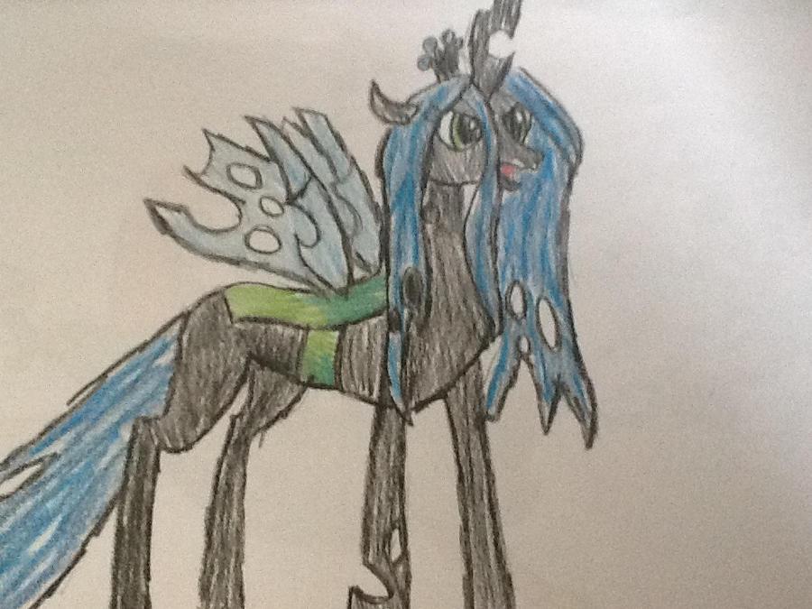 Meus desenhos... Finalmente!! Queen_chrysalis_by_ossami-d5nhst2