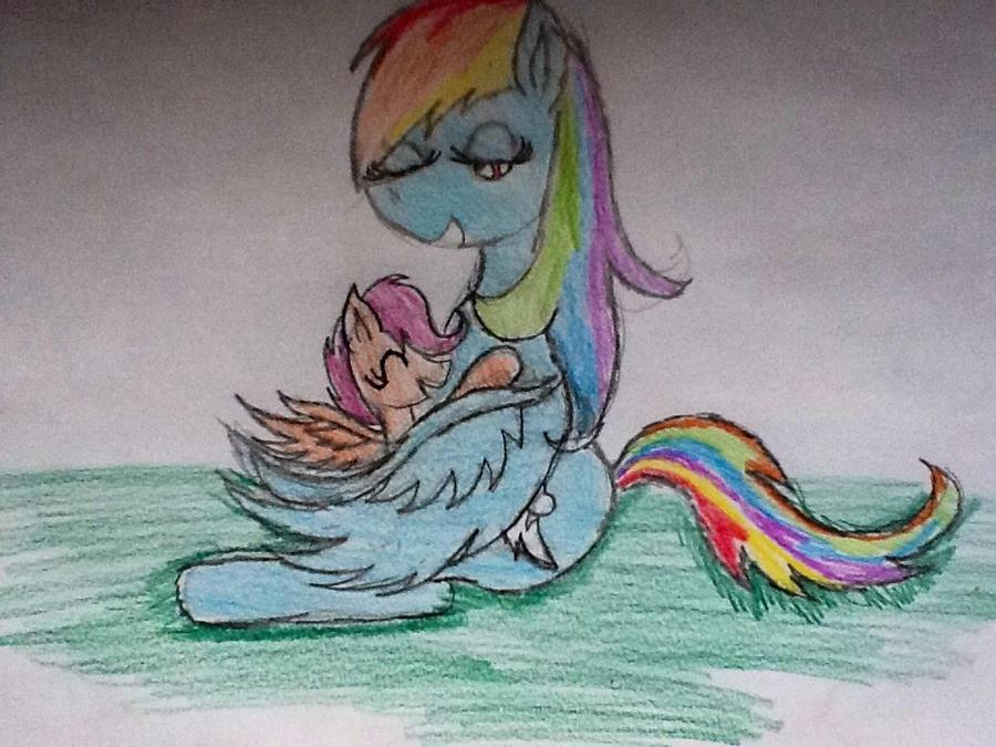 Cambada de desenhos da PoLo Rainbow_and_scotaloo_by_ossami-d5qagrn