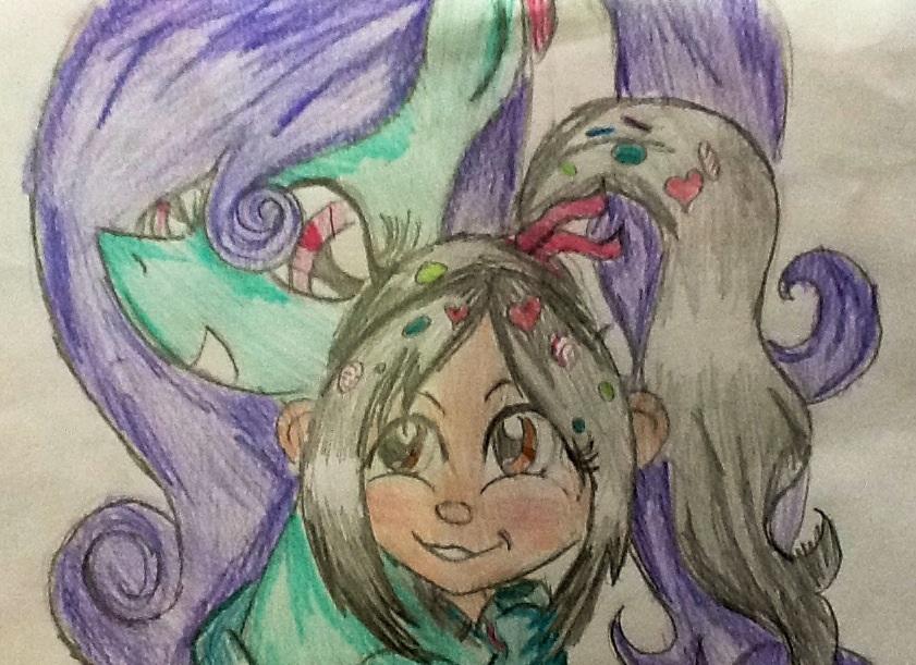 Cambada de desenhos da PoLo Blue_ice_and_vanellope_by_ossami-d5rhuym