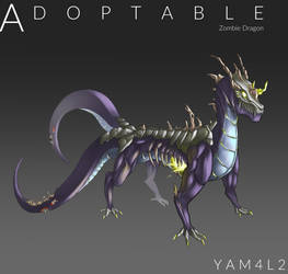[Open] MonsterAdoptable02 : Zombie Dragon by Yam4l2