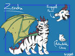 Zendra Reference Sheet 2017 by PyraBlueFlame