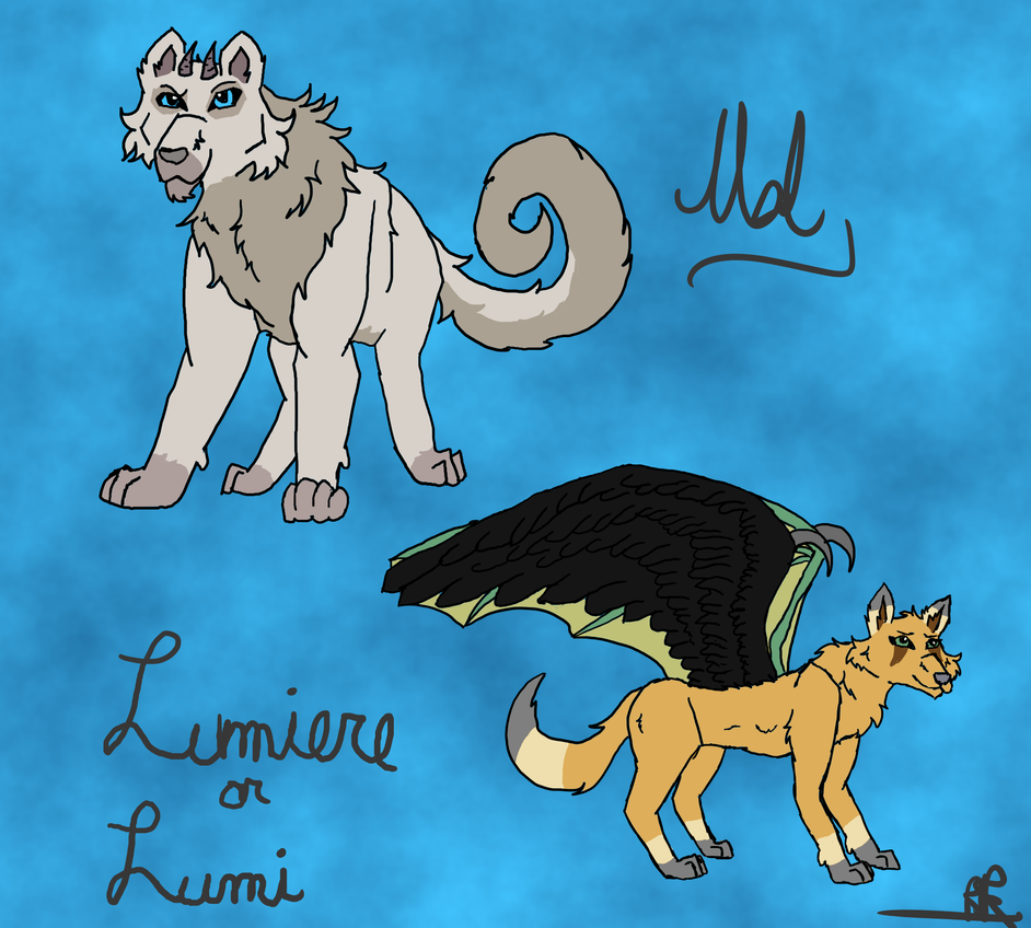 Mal and Lumi Ref Sheet by WolfHeart225
