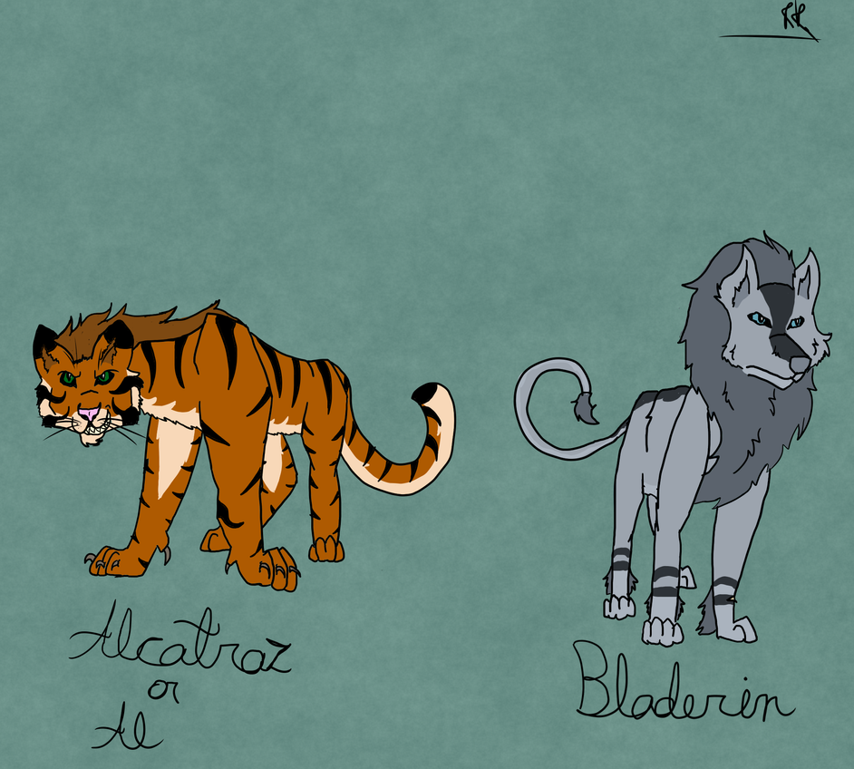 Alcatraz and Bladerin New Refs by WolfHeart225