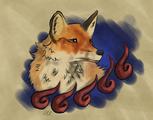Watercolor Fox by PyraBlueFlame