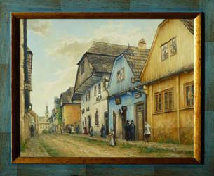 Old Jewish Street (1895) by joseph-art